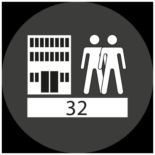 Beanspruchungsklasse 32 nach EN13329 AC4